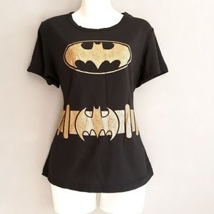 DC Bat Girl Black n Gold Tee